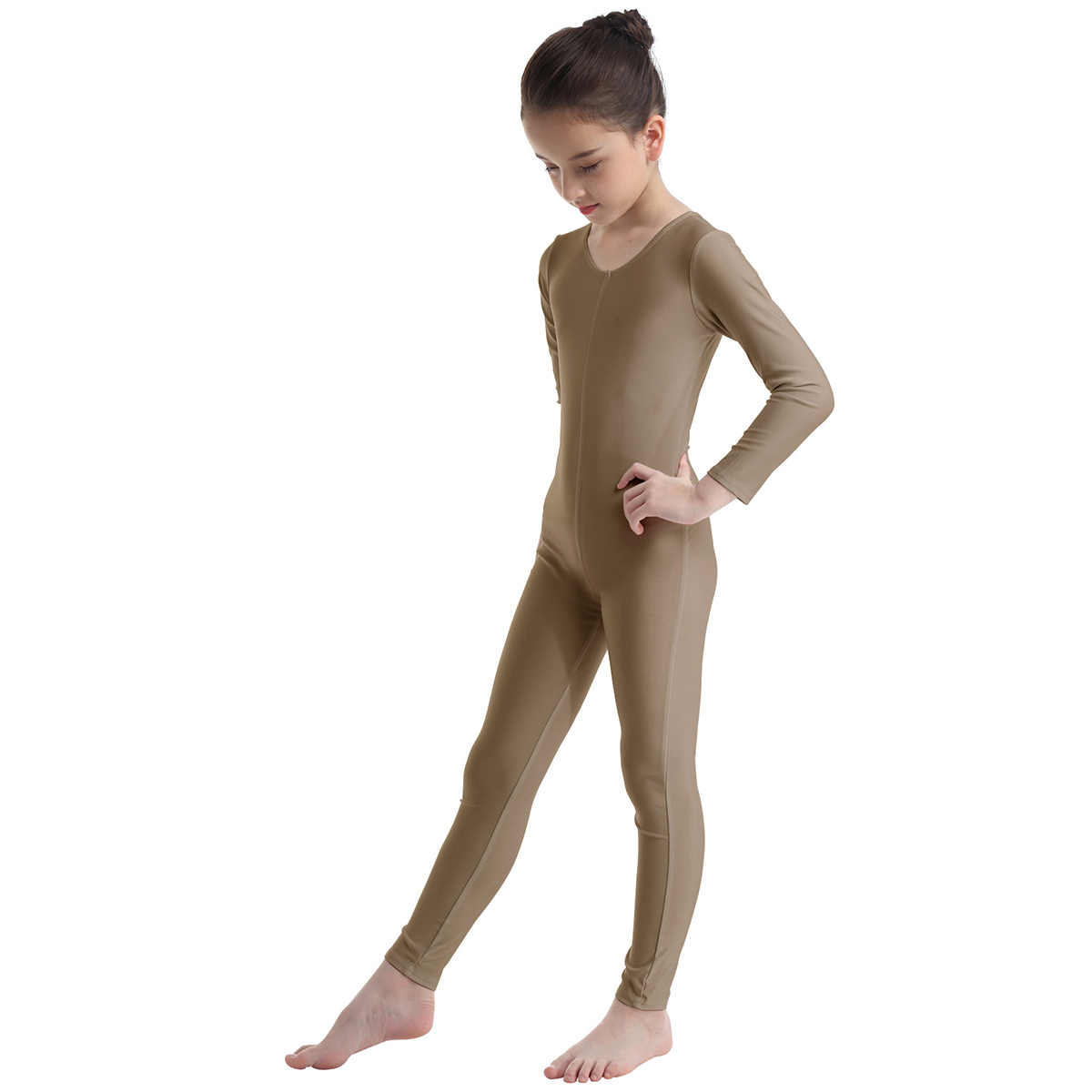 YOOJIA Kids Girls Lycra Spandex Long Sleeve Unitard Ballet Dance Leotard Bodysuit Catsuit Dancewear Costume