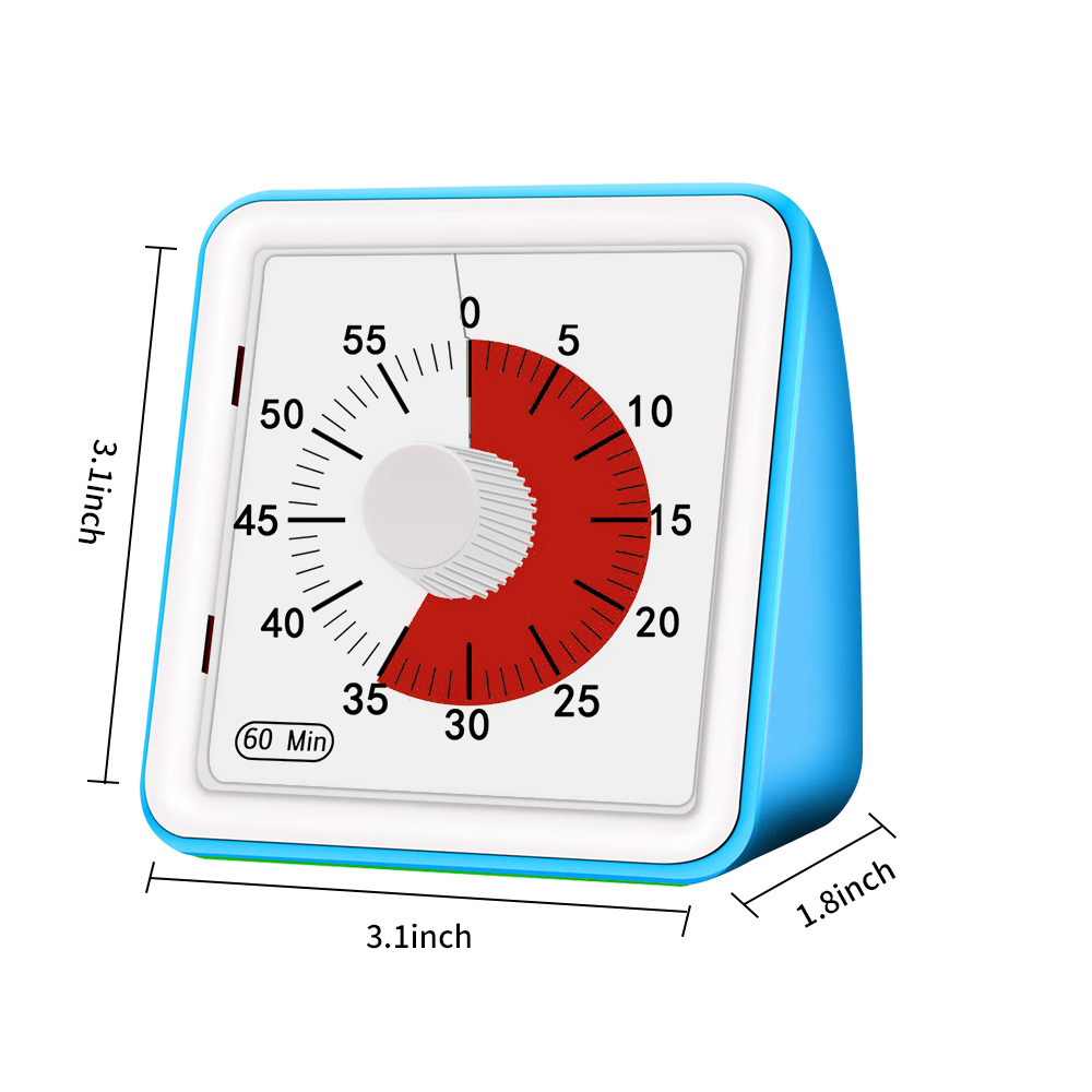 Image 5 - 60 Minutes Kitchen Timer Visual Cooking Count Up Countdown Alarm Sleep Stopwatch Time Management Tool For Kids And AdultKitchen Timers   -