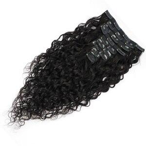 Veravicky 140 г человеческие волосы на заколках для наращивания бразильские волосы Remy натуральные волосы на заколках