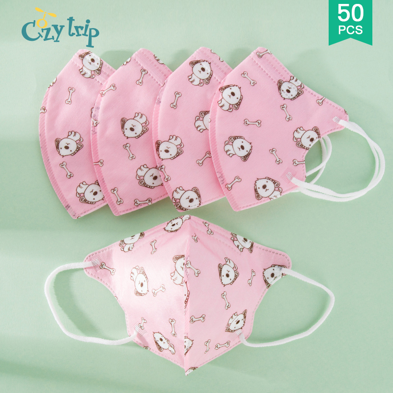 5-50PCS Anti Droplet Kids Face Mask Anti Dust Safety Face Mask Breathable Protective Mask For Boys Girls