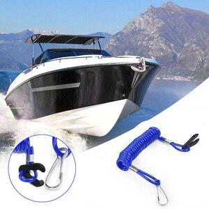 Image 3 - ボートスイッチキーストラップ安全ロープ用ホンダ用水銀 1.6m ブルージェットスキー船外機停止キルキーフローティング安全ストラップロープ