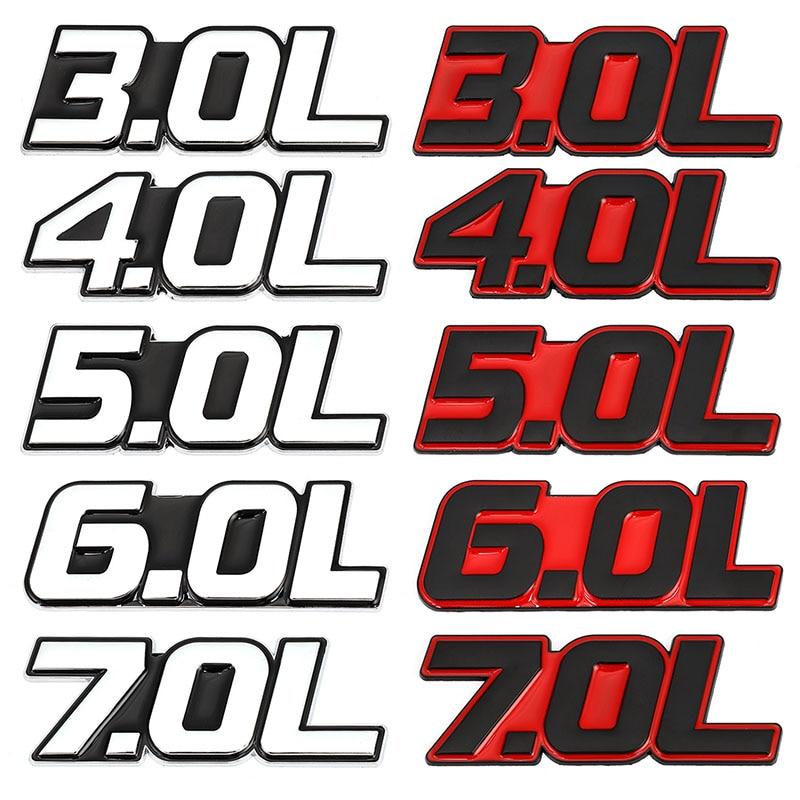 Автомобильные наклейки 3.0L 3.5L 4.0L 4.6L 4.7L 5.0L 6.0L 6.4L 7.0L эмблема значок наклейка для Toyota Mercedes Mazda Nissan BMW Honda Hyundai