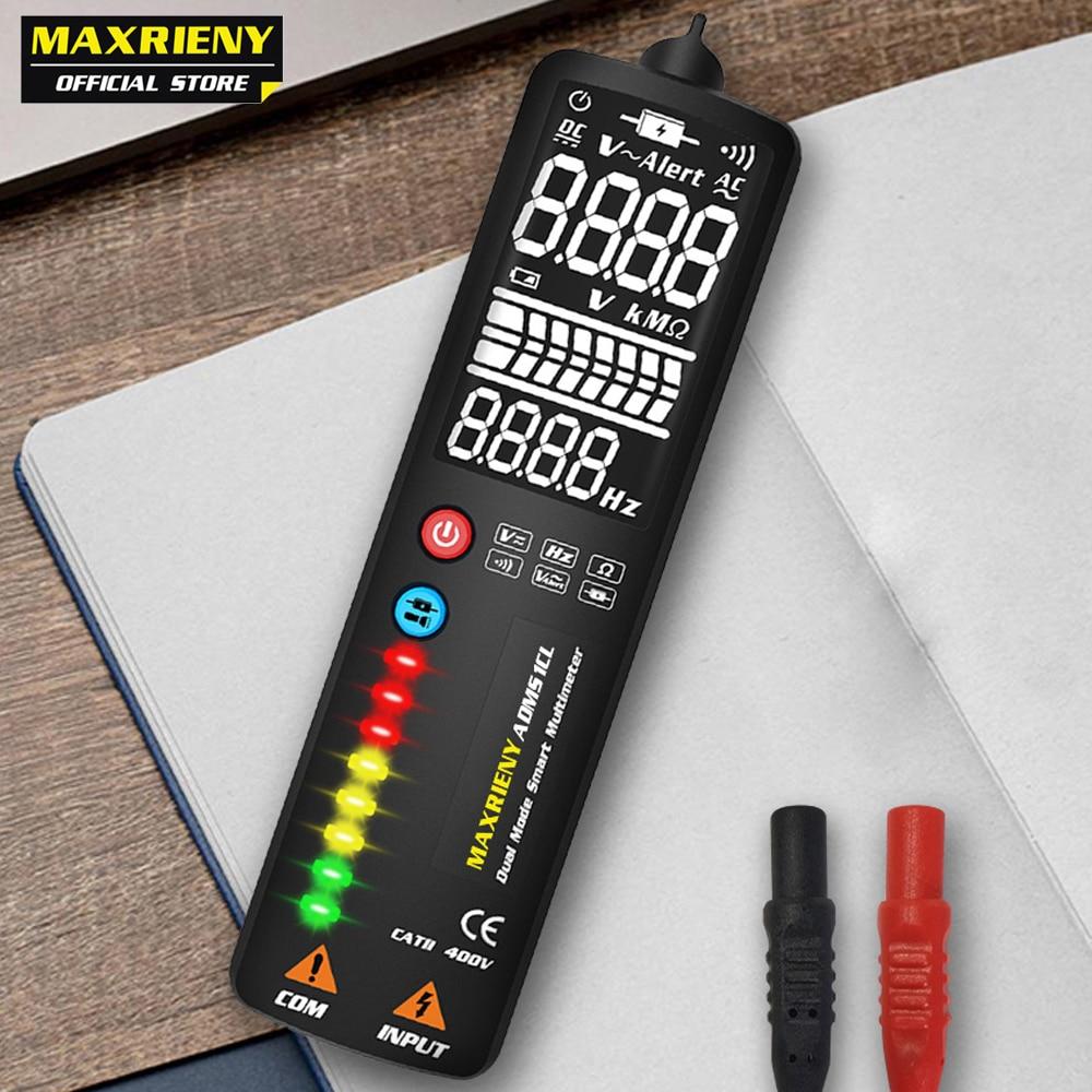 MAXRIENY S1 Smart Digital Multimeter EBTN Display Hidden Wire Tester Voltmeter LCD Voltage Detector Ohm Hz Continuity NCV Test(China)