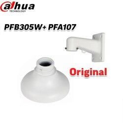 Dahua wodoodporny uchwyt ścienny PFB305W + PFA107 CCTV uchwyt aparatu + wiszący adapter do montażu CCTV uchwyt do SD1A203T GN w Akcesoria do telewizji przemysłowej od Bezpieczeństwo i ochrona na