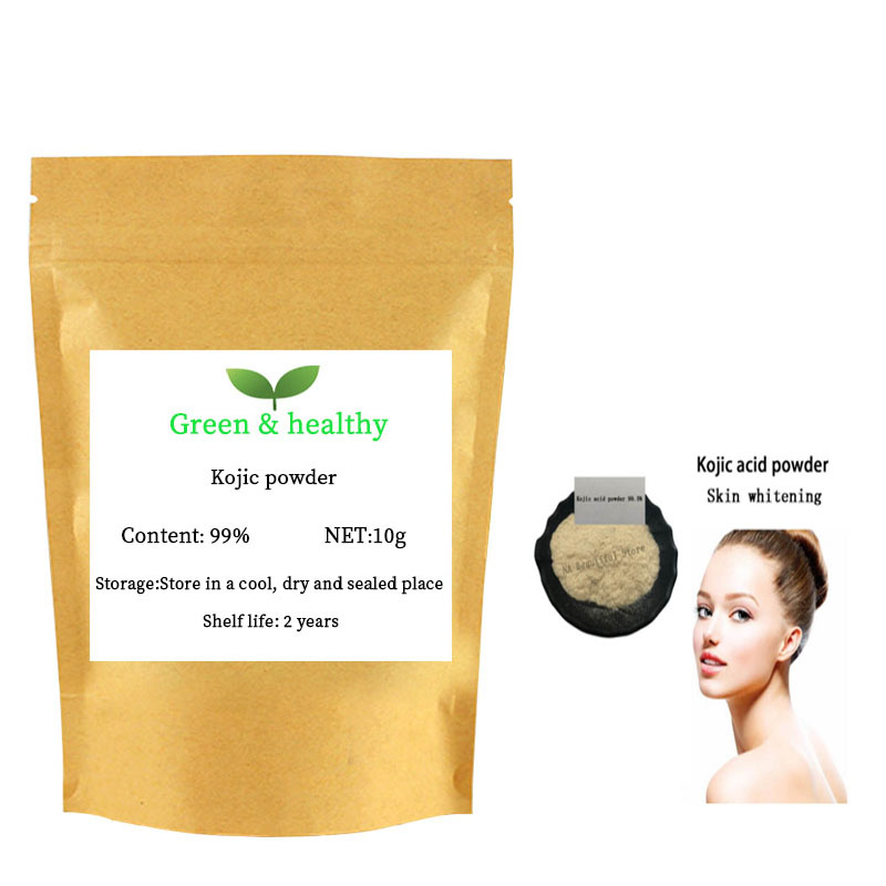 High Quality Kojic Acid Powder 99%,cosmetic grade skin whitening Anti-aging and treatment of freckles Lighten pigmentation