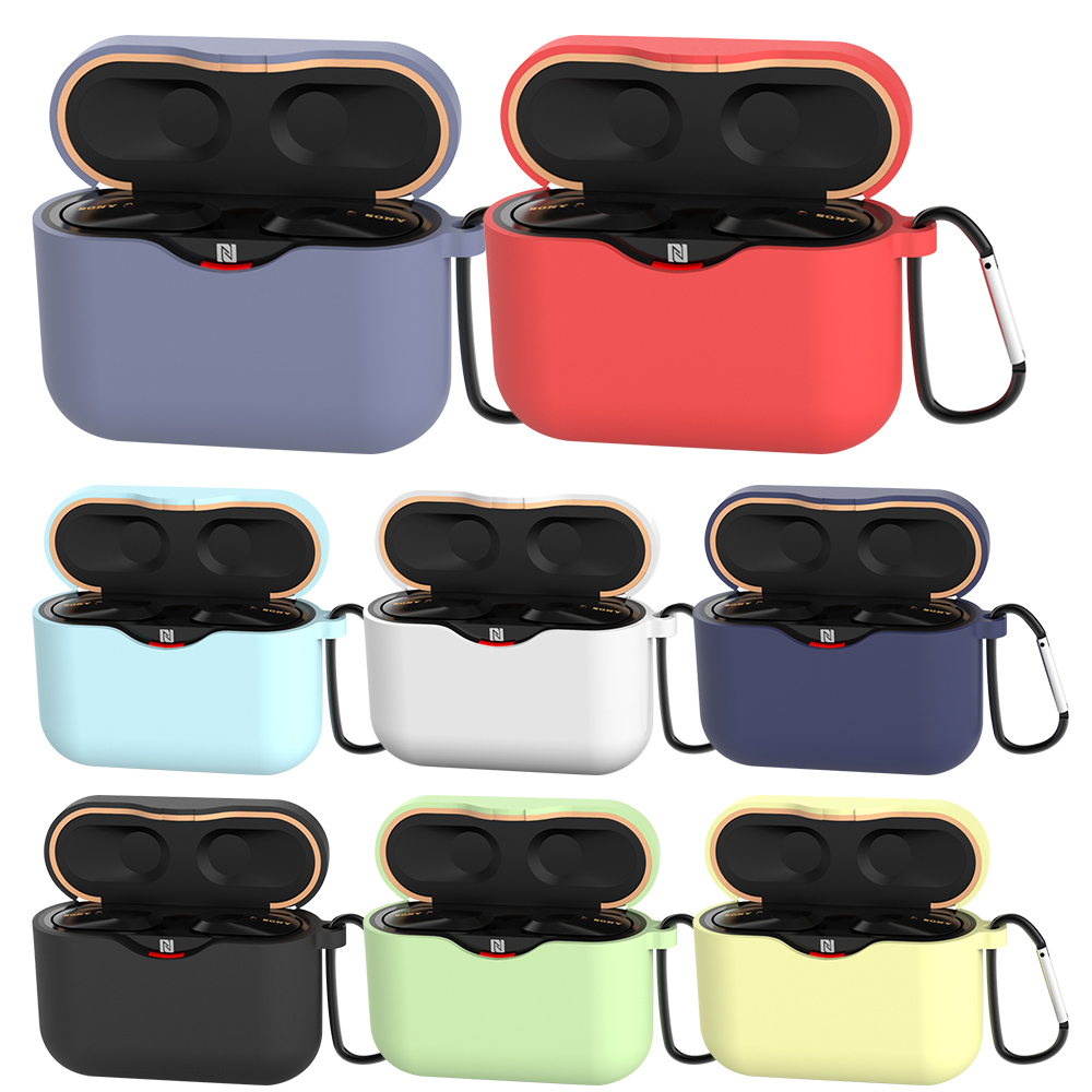 Soft Silicone Protective Case Cover For Sony WF-1000XM3 Earphone Bluetooth Headset Opening Full Cover Colors Case For WF1000XM3