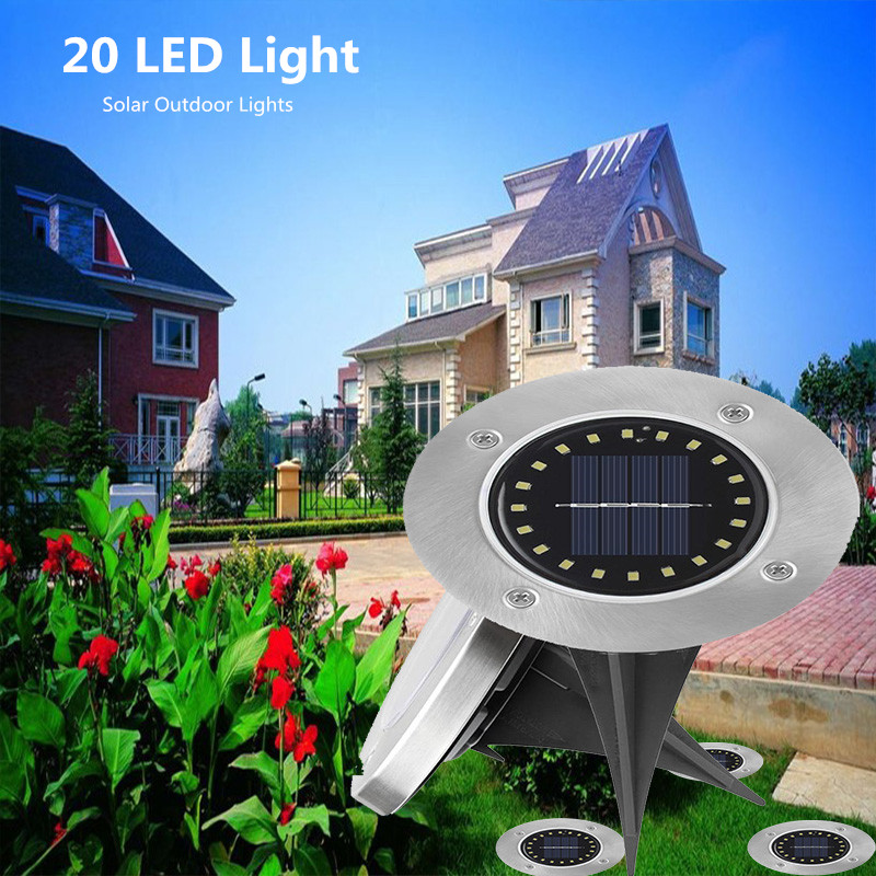 Outdoor Solar Deck Lights 8LED 12LED 16LED 20Led Buried Garden Lights Decorative For Outdoor Lighting Walkway Lawn Pathway Yard