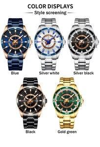 Image 5 - CURREN Sport Men Watch Top Brand Luxury Gold Military Business Waterproof Male Clock Stainless Steel Quartz Man Wristwatch 8359
