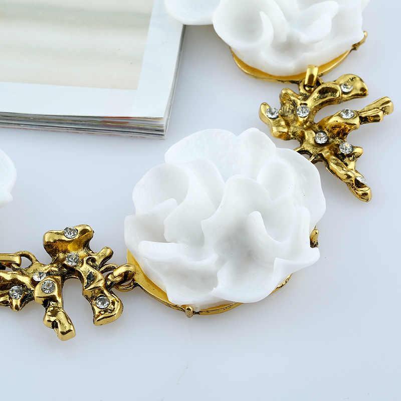 Moda jóias brilhante camélia pontilhada colar de cristal brincos requintado moda jóias prestige santa senhora jóias
