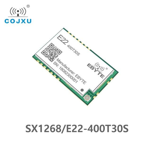 SX1268 LoRa TCXO 433MHz 30dBm E22 400T30S SMD UART Draadloze Transceiver IPEX Stempel Gat 1W Lange Afstand Zender en ontvanger