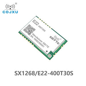 Image 1 - SX1268 LoRa TCXO 433MHz 30dBm E22 400T30S SMD UART Wireless Transceiver  IPEX Stamp Hole 1W Long Range Transmitter and Receiver