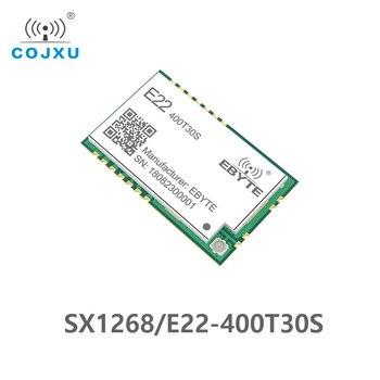 SX1268 LoRa TCXO 433MHz 30dBm E22-400T30S SMD UART Wireless Transceiver  IPEX Stamp Hole 1W Long Range Transmitter and Receiver sx1268 lora 433mhz 30dbm smd uart wireless transceiver e22 400t30s ipex stamp hole 1w long range tcxo transmitter and receiver