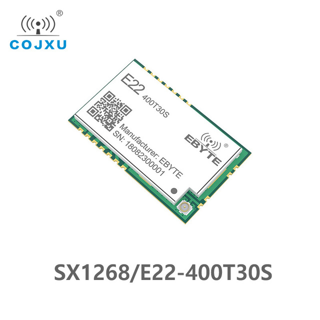 SX1268 LoRa TCXO 433MHz 30dBm E22 400T30S SMD UART Wireless Transceiver  IPEX Stamp Hole 1W Long Range Transmitter and Receiver