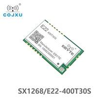Sx1268 lora tcxo 433 mhz 30dbm E22 400T30S smd uart 무선 송수신기 ipex 우표 구멍 1 w 장거리 송신기 및 수신기