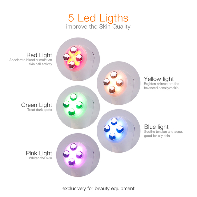 6 in 1 RF EMS Electroporation LED Light Photon Radio Salon Face Lifting Tightening Facial Deep Cleaning Massager Beauty Device 4
