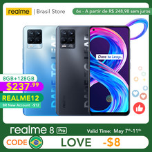 Realme – 8 Pro caméra 108mp, Version globale, 8 go 128 go, 50W SuperDart Charge AMOLED, Support B2/4, prise ue