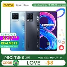 Realme 8 Pro wersja globalna 8GB 128GB kamera 108MP 50W SuperDart opłata AMOLED wsparcie B2/4 ładowarka z wtyczką ue