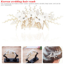 Elegant Wedding Hair Combs for Bride Crystal Rhinestones Pearls Women Hairpins Bridal Headpiece Jewelry Accessories