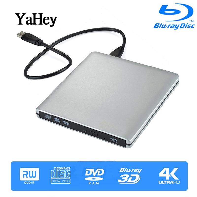YAHEY USB 3 0 Blu ray Drive BD RE Burner 2019 External CD DVD RW RAM