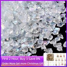 0.5 7mm 3mm perles de rocaille claires puces de verre perles de pierre irrégulières naturelles pour la fabrication de bijoux Bracelet de collier en cristal sans trou