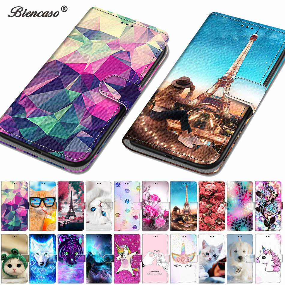 Lovely Animal Case For Alcatel 3X Stand Cover For Alcatel 1 1S 3 3L 2018 2019 Wallet Coque For iPhone 11 Pro max Phone Capa