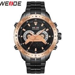 WEIDE zegarek męski Reliogo analogowy cyfrowy wojskowy zegarek kwarcowy wodoodporny zegarek na rękę Relogio Masculino automatyczny zegarek męski