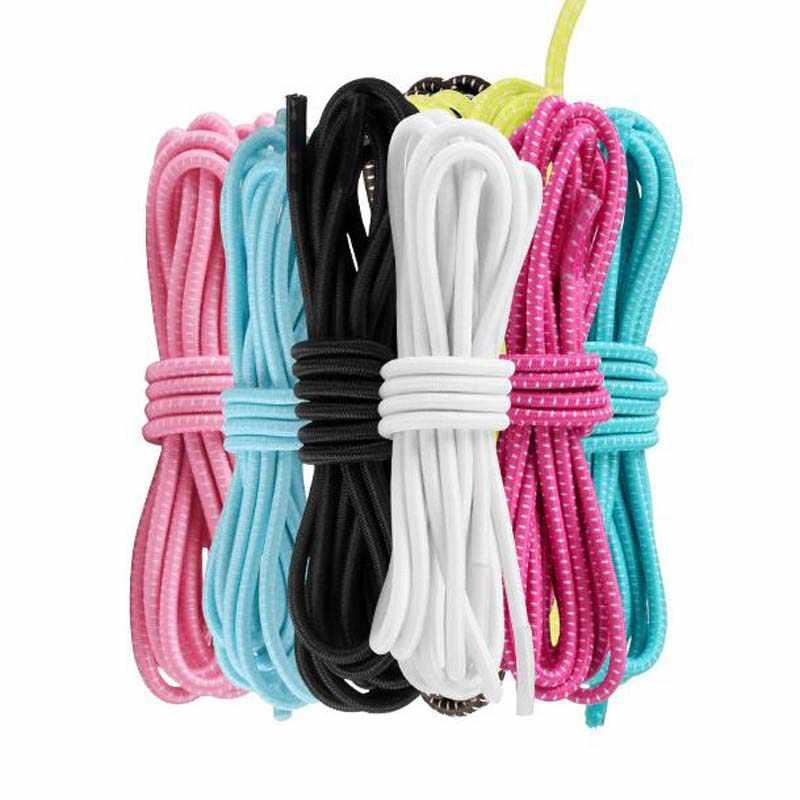 1 para Multicolor okrągły Stretch sznurowadła dla trampki 105cm kobiety mężczyźni bieganie sport na zewnątrz wysoko elastyczność sznurowadła struny