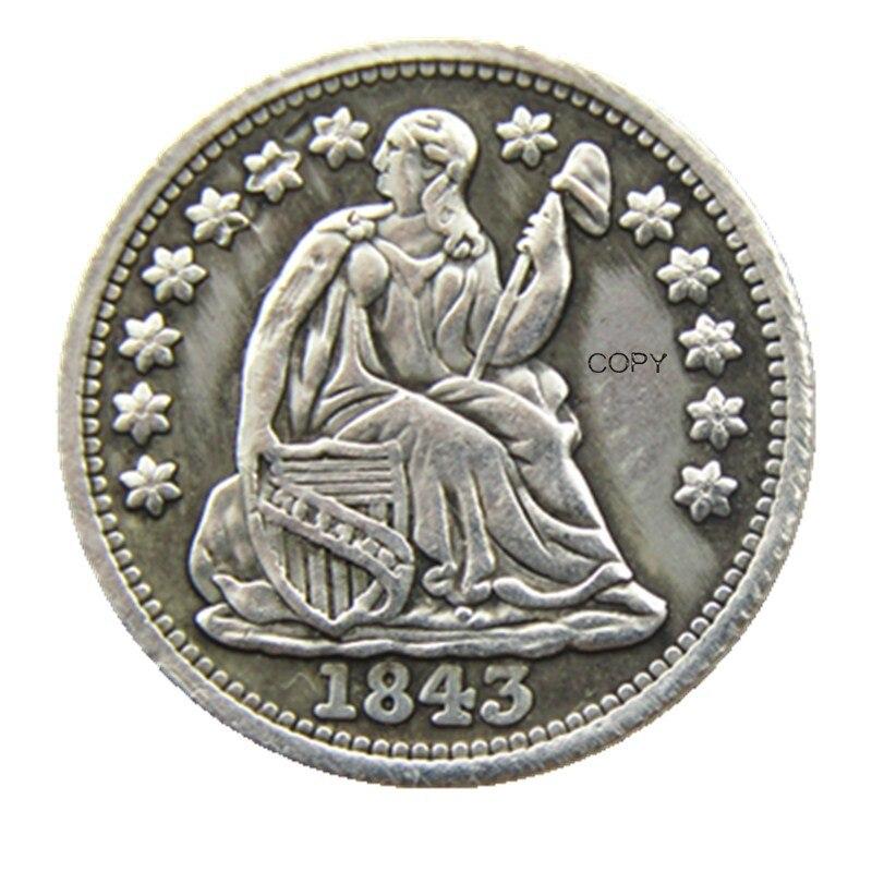 USA 1843 Liberty Seated Half Dime No Stars (Regular Strike) Copy Coins
