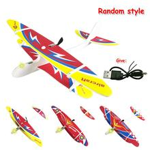 Outdoor Taman Manual Melemparkan Eklektik Glider DIY Epp Busa Pesawat Terbang Mainan