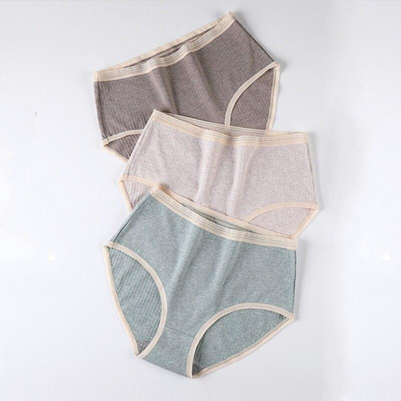 Women's Panties Large Sizes Cotton Briefs with High Waist Graphene Bacteriostatic Colored Cotton Panties Underwear Women