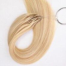 MRSHAIR 8D микро бусины для наращивания двойные тянутые толстые концы 100% человеческие волосы машина Реми #60 невидимые 50 г 1 г/нить 16 20 дюймов