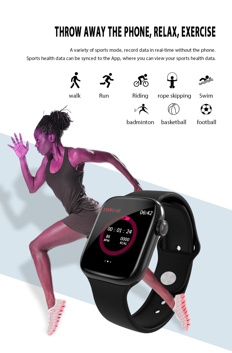 F9 s PK iwo8 b57 Touch Screen smart watches to Monitor Heart rate and Blood pressure Supported for IOS Android for men women 27