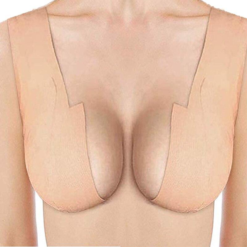 Sexy Bra Women Breast Petal Body Invisible Lift Nipple Cover Adhesive Strapless Boob Tape Bra Stickers Silicone Breast Lift Tape