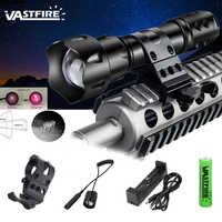 400 hof Zoomable Fokus Infrarot Linterna 850nm LED Infrarot Strahlung IR Taschenlampe Taktische Nachtsicht Jagd Waffe Licht