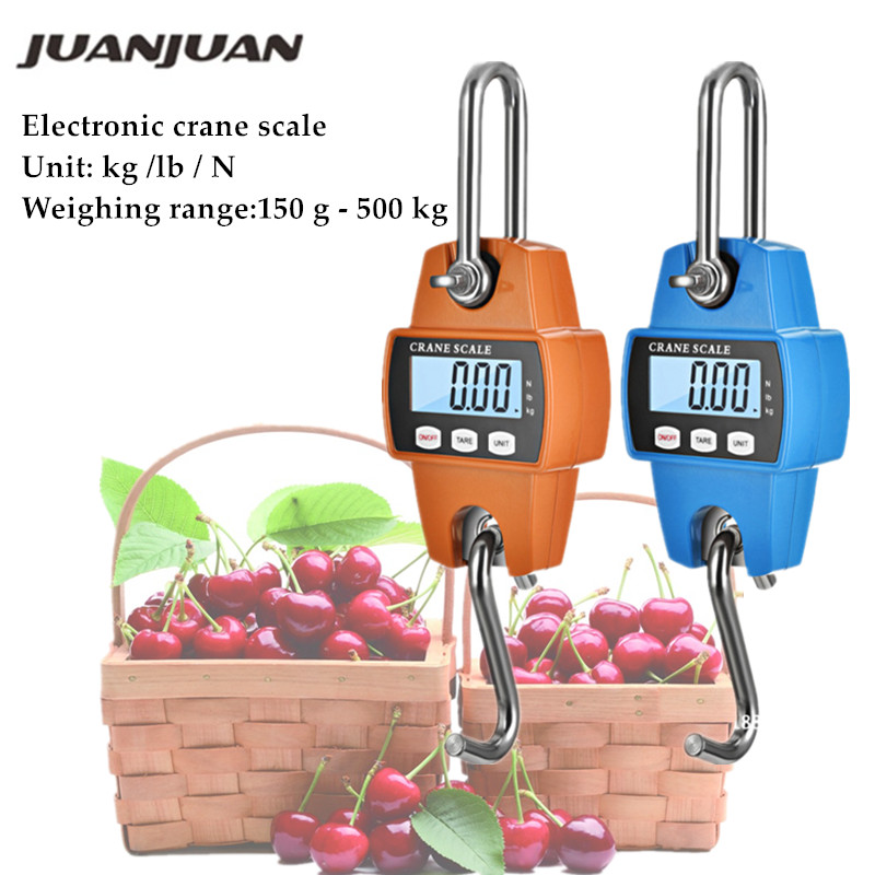 150kg <font><b>200kg</b></font> 300kg 500kg LCD <font><b>Digital</b></font> Luggage <font><b>Scale</b></font> Heavy Duty Hanging Hook <font><b>Scales</b></font> Portable <font><b>Digital</b></font> Stainless Steel 40% off image