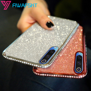 Cases 3D Diamond Glitter Silicone for XiaoMi Mi 9 SE 9T Pro Lite A2 A3 RedMi Note 8T 8 Pro 8A 7 7A 6 6A 5 K20 Cover Bling Soft(China)