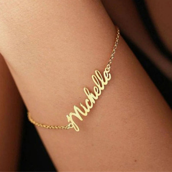 цена на Custom Gold name bracelet,nameplate bracelet,925 sterling silver and 18k gold plated name jewelry