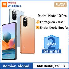 Versión Global Xiaomi Redmi Note 10 Pro Smartphone 108MP Quad Cámara Snapdragon 732G 120Hz AMOLED DotDisplay 33W de carga rápida Note10 Pro