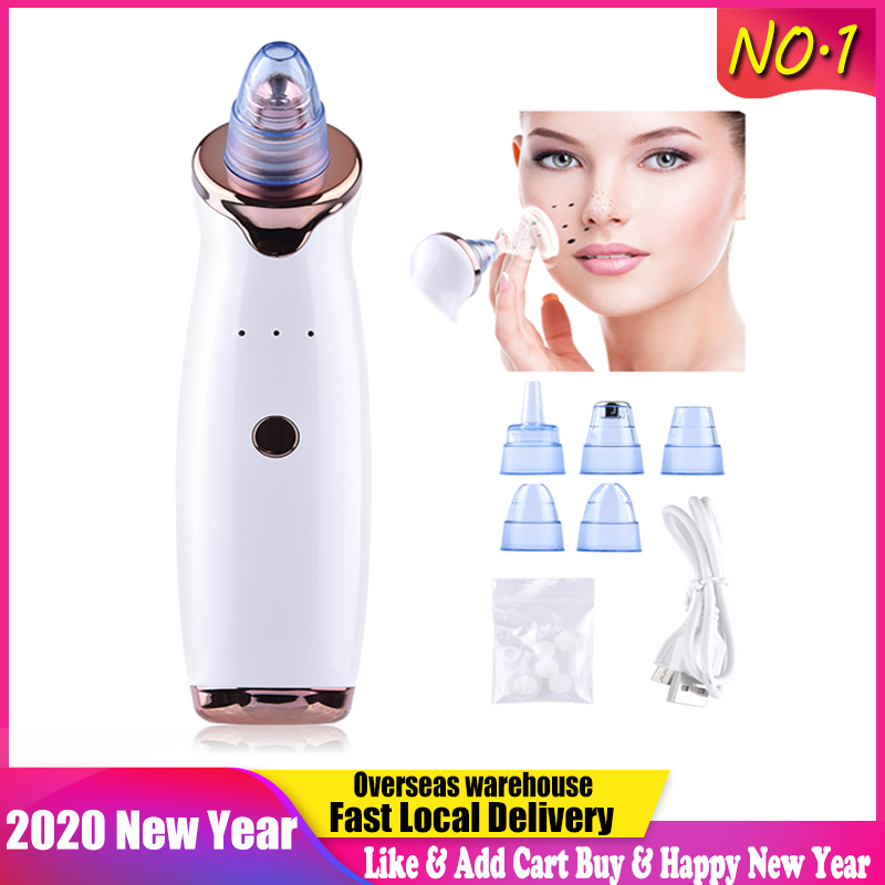 Pore Cleaner Nose Blackhead Remover Face Deep T Zone Acne Pimple Removal Vacuum Suction Facial Diamond Beauty Care SPA Tool Skin