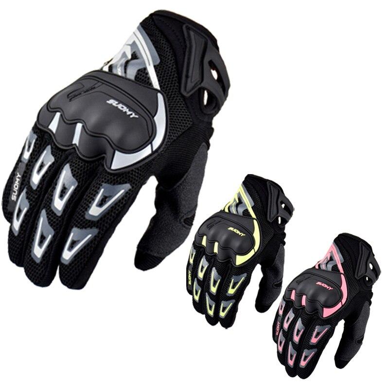 Новое поступление 2019, мотоциклетные перчатки Suomy, летние сетчатые дышащие мотоциклетные перчатки, мужские и женские перчатки для мотокросс...
