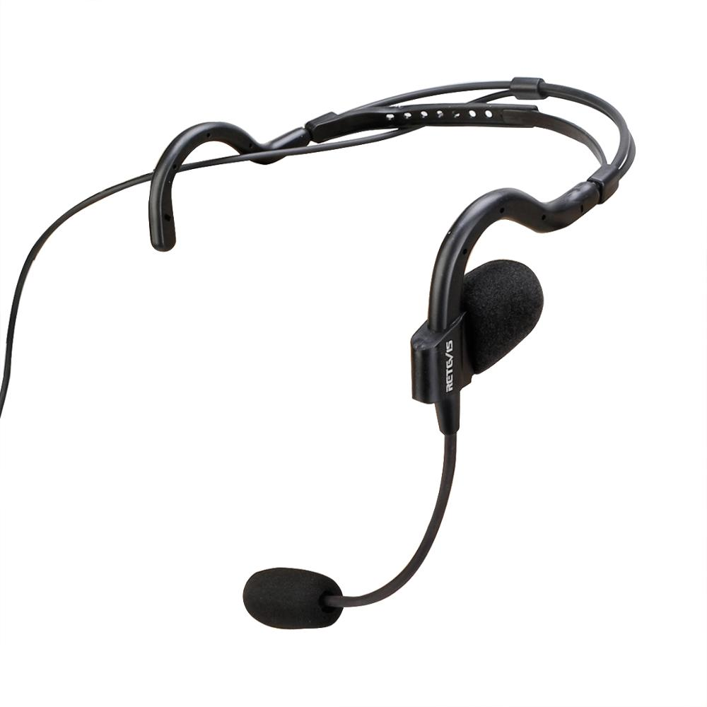 New EHK006 Kenwood 2 Pin Behind-the-Head Earpiece Tactical Headset Boom Microphone with Rugged Remote PTT