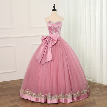 Jiayigong Ball Gown Cheap Quinceanera Dresses Tulle With Beads Sequined Big Bow Sweet 16 Dress For 15 Years Debutante - discount item  27% OFF Special Occasion Dresses