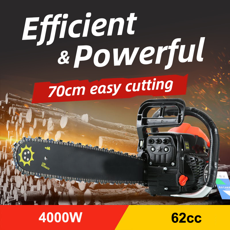 Chain Saw Electric Saw Hobby Tools For Wood Professional 4000W Bar Gasoline Gas Powered Chainsaw Engine Cutting Wood 2 Cycle