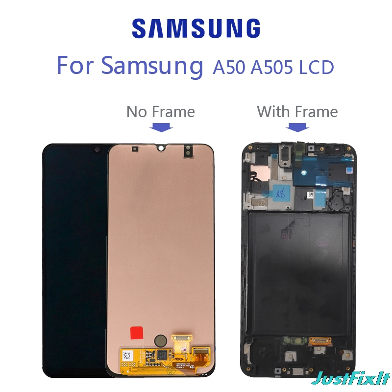 Original Screen For Super Amoled For Samsung Galaxy A50 SM-A505FN/DS A505F/DS A505 LCD Display Touch Screen Digitizer Assembly image