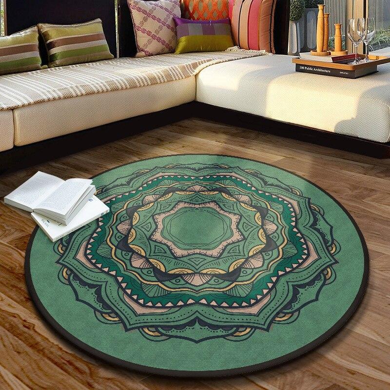 Nouvelle mode 8 tailles 11 couleurs tapis de Yoga tapis de salon Tatami tapis rond lavable en Machine 140*140 CM tapis de sol de style occidental