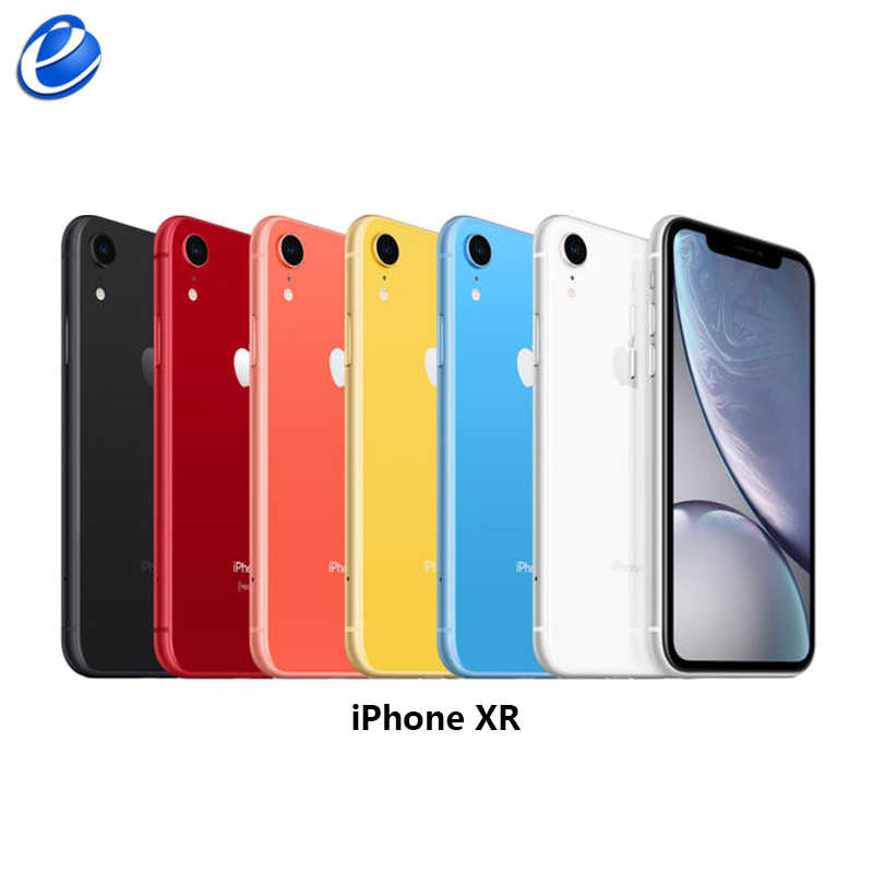 "2018 Unlocked orijinal Apple iPhone XR | 6.1 ""sıvı Retina tam LCD ekran 64GB/128GB/256GB ROM 4G Lte Apple Smartphone"