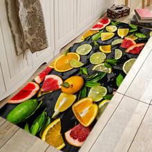 Коврик для прихожей кухни входной двери с рисунком свежего фруктового
