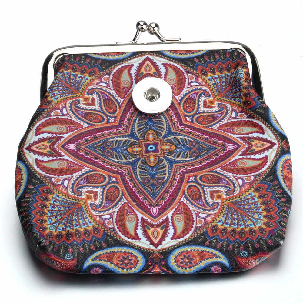 แฟชั่น 18 มม.ปุ่ม Snap เครื่องประดับเหรียญกระเป๋าสตางค์ขนาดเล็กผู้หญิงเงินของขวัญสร้อยข้อมือ ZN071