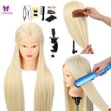 Tête de formation de Mannequin professionnel de 26 pouces poupées de coiffure coiffant de longues poupées de cheveux de Salon de pratique de cheveux têtes de formation factices