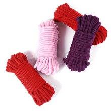 Бондаж мягкая хлопковая веревка флирт секс-игрушки для пар ролевые игры раб SM Связывание веревка удерживающая взрослая игра 5 м/10 м